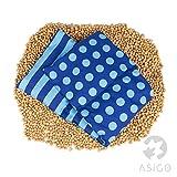 Asigo 4 Kammer Kirschkernkissen I Wärmekissen aus Baumwolle, 20 x 60 cm I Mikrowellen geeignet I Made in Germany