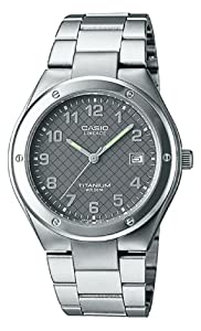 Casio 0 - Reloj de cuarzo para mujer, con correa de titanio, color plateado de Casio