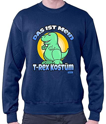 HARIZ Herren Pullover Das Ist Mein T Rex Kostüm Karneval Verkleidung Plus Geschenkkarten Navy Blau ()