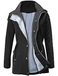 b756fef3cf19 Raincoats Waterproof Lightweight Rain Jacket Active Outdoor Hooded Women s  Trench Coats