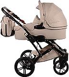 Knorr Baby Voletto Premium beige 3287-5 2in1 Kombikinderwagen / Kinderwagen Set mit Babywanne und Buggy Sportwagen Aufsatz