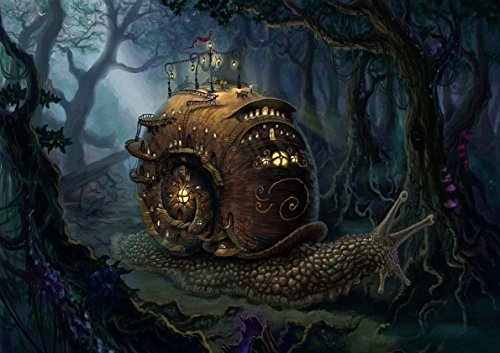 Posters Paisajes de fantasía Snail Steampunk Art Escargot