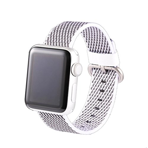 CICIYONER 1 PC Release Sport Royal Woven Nylon Armband Strap Band für Apple Watch Series 1 2 3 38mm 42mm, 6 Farben zu wählen (Apple Watch Series 1/2/3 42mm, A #)