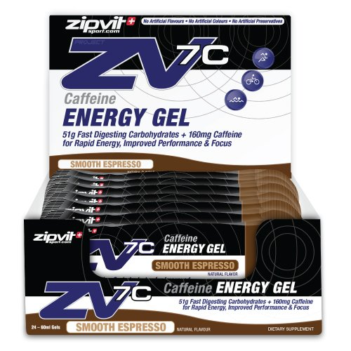 ZV7c Caffeine Energy Gel, Smooth Espresso, Box of 24 x 60ml