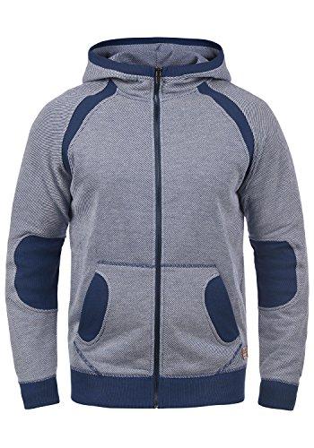 Blend Stuart Herren Sweatjacke Kapuzenjacke Hoodie Mit Kapuze Reißverschluss Und Fleece-Innenseite, Größe:M, Farbe:Navy (70230) Blend Herren Sweatshirt