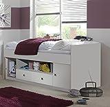 Wimex Bett/ Doppelbett Jalta, 2 Schubladen, 2 Türen, Liegefläche 90x200 cm, Weiß