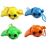 DCS Football Shape Whistle Pack Of 4