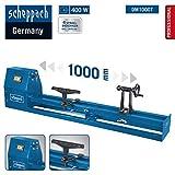 Scheppach Drechselbank DM1000T (400 W, Drechsel-Ø 350 mm, Spitzenweite 1000 mm, 4-fach...