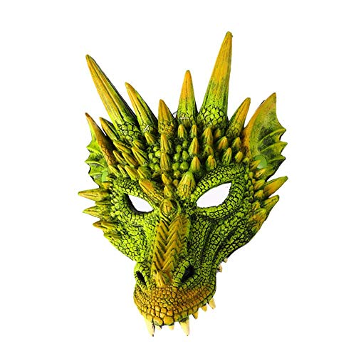 2019 kreative Maske Halloween Horror Requisiten 3D Tier Drachen Maske Cosplay Thema Party Maske (2 Halloween 2019 Thema)