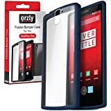 Orzly® - FUSION Bumper Case para OnePlus ONE - Fusión Gel Funda en AZUL (MIDNIGHT BLUE) con Posterior enTransparent - Designed para ONE PLUS ONE SmartPhone (Alias: Flagship Model of Smart Phone named ONE Released by ONE PLUS / New 2014 Release / Original Premier Launch Version / ONE PLUS ONE / OPO / etc.) - Fits ALL Models and Versions from 2014 Original Version and onwards