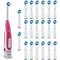 20 Recambios para cepillo de dientes eléctrico compatibles con OralB y Cepillo eléctrico de Regalo.