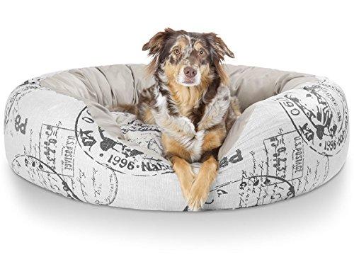 Knuffelwuff 12769 kuscheliges Hundebett Robinson - Größe XXL, 110 x 95 cm, Schwarze Elemente
