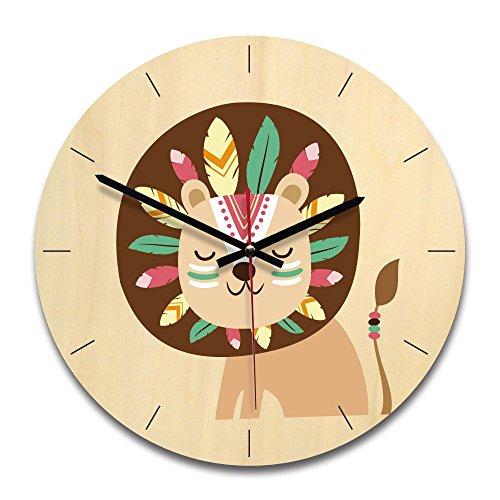 Wall clock JK 11-Zoll-Cartoon-Wanduhr Acryl Uhr Büro, Schlafzimmer, Wohnzimmer, Küche Dekorative Wanduhr,Lion