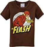 Logoshirt Jungen, T-Shirt, DC - Flash - The Fastest Man Alive, Braun (Mustang Brown), 14 Jahr
