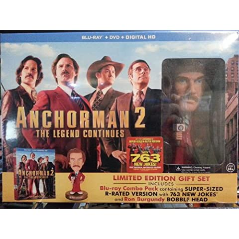 Anchorman 2: The Legend Continues (Blu-ray + DVD + Digital Hd) (2013) with Ron Burgundy Bobble Head