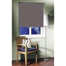 EASY-ROLLO estor enrollable protector solar de la mitad de la de colour de la pizarra, opaca para 60 cm de ancho x 160 cm largo de la