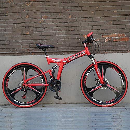 26-zoll-profi-griff Aus Aluminium (Dapang Faltbare Portable Bicycle,26 Inch Mountain Bike mit 27-Speed Shimano Variable Speed Fahrrad für Höhe 120-145cm,13,27Speed)