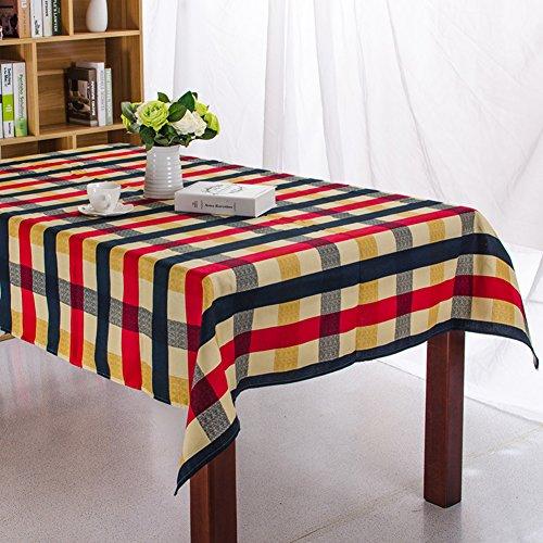 Moderne Gitter (Moderne Gitter Mode Restaurant Esstischdecke Baumwolle Wohnzimmer Dekoration Party Tischdecke Hochzeit Dekoration Tuch 140 x 180 cm 55 x 70 Zoll)