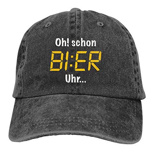 XCOZU Baseball Cap Herren-Oh Schon Bier Uhr Kappe Für Herren Und Damen,Einstellbare Outdoor Cowboy Caps