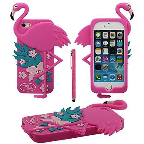 3D Kreativ Tier Flamingo Gestalten Weich Silikon Schutzhülle Handy Hülle