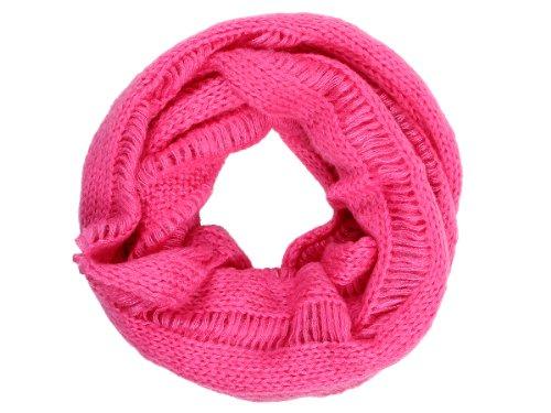 Echarpe – VIPER Tube en boucle Foulard LOOP écharpe autour du cou tricoté hiver SCH-257g rose-vif