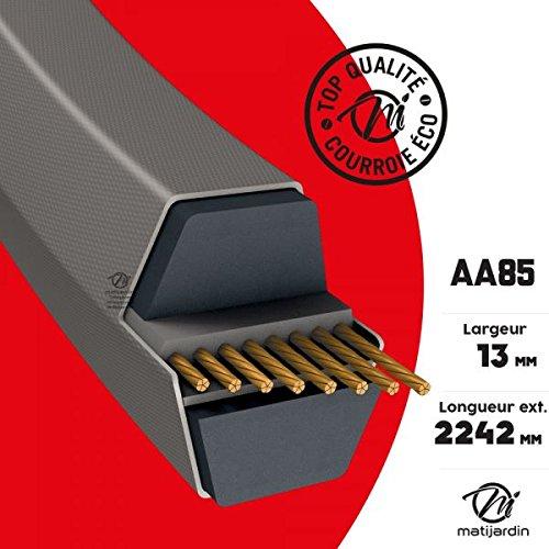 Courroie tondeuse AA85 prix éco, Héxagonale 13 mm x 2242 mm - Pièce neuve