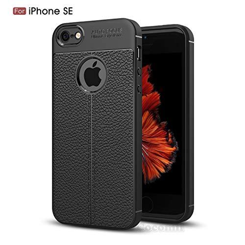 Cocomii Ultimate Armor iPhone SE/5S/5 Hülle [Strapazierfähig] Taktisch Leder-Muster Griff Schmale Passform Stoßfest Gehäuse [Heer Verteidiger] Case Schutzhülle for Apple iPhone SE/5S/5 (Ul.Black)