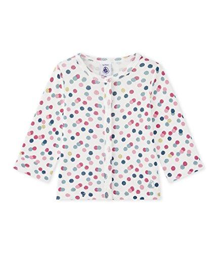 Petit Bateau Baby-Mädchen Strickjacke Cardigan 28779, Mehrfarbig (Marshmallow/Babylone/Multico 58), 80 (Herstellergröße: 12m/74cm)