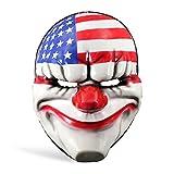 Payday 2 Dallas Bankräuber Maske Kostüm Zubehör Clown Maske US Flagge aus Actionspiel Vinyl