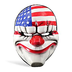 Accessoire de costume - Masque de clown Päyday 2 Dallas drapeau américain issu du jeu d'action - Vinyle