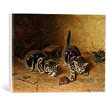"""Cuadro en lienzo: Horatio Henry Couldery """"Reluctant Playmate"""" - Impresión artística de alta calidad, lienzo en bastidor, 40x30 cm"""