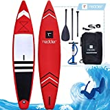 redder Tablas Paddle Surf Hinchables Nova Doble Capa Turismo 12'6' Tabla Stand Up Paddle - Kit con Bravo SUP3 Inflador, Carbono Pala Ajustable 3 Piezas, Mochil, Kit de Reparación