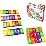 Ball Game Domino Blocks For Children Numbers And Letters Design Marble Toy Set For Toddlers Best Educational Building And Stacking Play Set For Kids And Preschoolers (41 Pcs.)