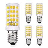Albrillo 4.5W/400LM E14 LED Glühlampe Warmweiß 3000K mit 64 SMD LEDs, 50W Halogenlampen Ersatz, 5er Pack