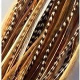 Extensiones de pelo de 15 cm con mezcla de plumas naturales (5 plumas)