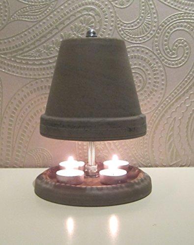 Teelichtofen Kerzenofen Teelichtheizung Höhe 23cm Durchmesser 16cm Farbe Basalt