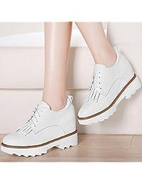 KHSKX-L'Aumento Delle Nuove Scarpe Di Primavera Coreano Corrispondono Tutti Inglesi Scarpe Casual Le Scarpe Per Gli Studenti Trentotto White