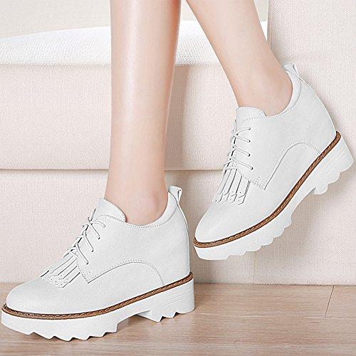 KHSKX-LAumento Delle Nuove Scarpe Di Primavera Coreano Corrispondono Tutti Inglesi Scarpe Casual Le Scarpe Per Gli Studenti Trentotto White Thirty-five