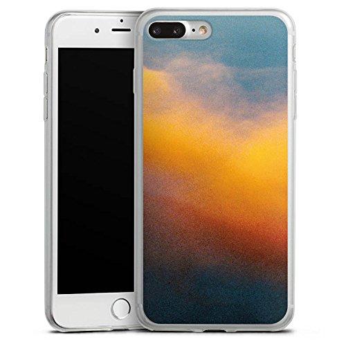 Apple iPhone 8 Plus Slim Case Silikon Hülle Schutzhülle Wolken Himmel Sonnenuntergang Silikon Slim Case transparent