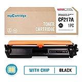 Mycartridge kompatibel HP 17A CF217A Schwarz Toner mit Chip für HP Laserjet Pro M102a M102w MFP M130a M130nw Drucker