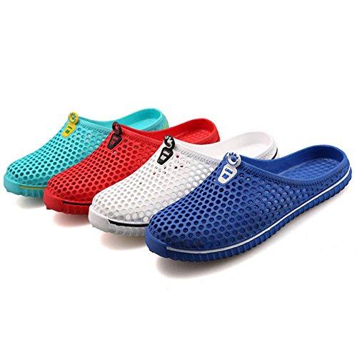 XIANV Casual Schuhe Damen Sandalen Home Herren Valentine Liebhaber Hausschuhe Mann Frauen Flip Flops Schuhe Maultier Blau