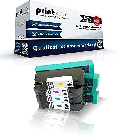 4x Kompatible Tintenpatronen für HP DesignJet 455 CA 24 inch DesignJet 488 CA 24 inch HP40 H44 Schwarz Cyan Magenta Yellow - (24 Kompatible Tintenpatrone Schwarz)