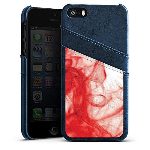 Apple iPhone 5c Housse Étui Protection Coque Sang Eau Water Étui en cuir bleu marine