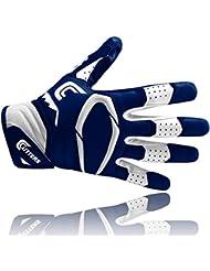 Cutters S451Rev Pro 2.0American Football Receptor Guante, marina, talla S de 2x l, color azul marino, tamaño medium