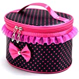 OVERMAL Women Portable Travel Toiletry Makeup Cosmetic Bag Organizer Holder Handbag (Black)