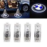 HConce Lot de 4 ampoules LED pour porte de voiture avec logo Shadow