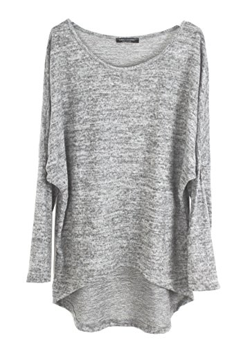 Emma & Giovanni - Pullover - T-shirt Loose Fit ( Oversize) - Damen Grau