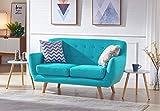 moloo Larson ausziehbarem Sofa 2Sitzer, Stoff, blau, 146x 80x 85cm