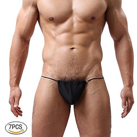 7PCS Sexy Herren Herren G-String Homosexuell Strumpfhosen Sexy Gay Slips Unterwäsche Unterhosen Herren String Slip Shorts String (7PCS)