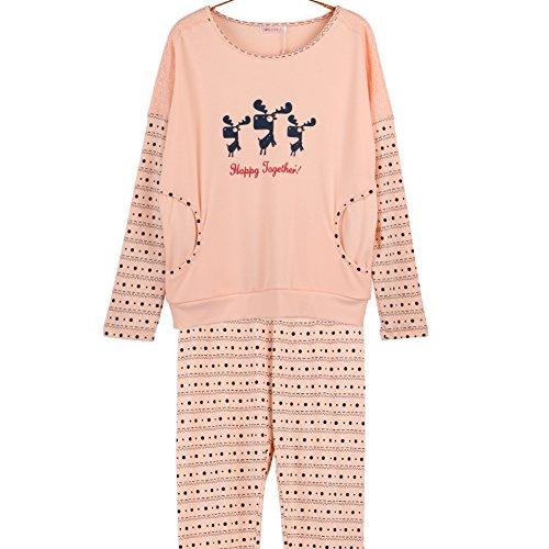 Weibliche Models fallen Anzug Schlafanzug/ Mantel Hosen Pyjamas/ Yukata/Nachtwäsche/ tragenden Pyjamas A